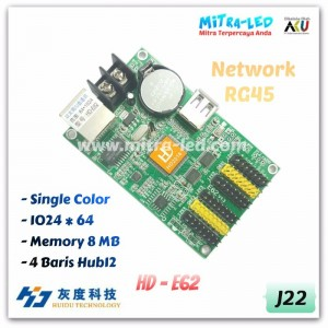 HD-E62 Ethernet + USB Running Text Controller Card | 512 x 64