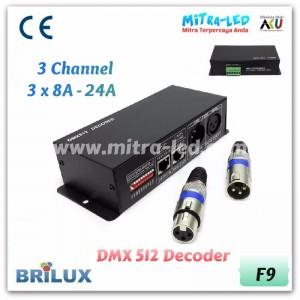 DMX 512 Decoder 3 Channel | 24A 288W - F09