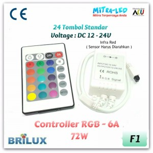 24 Key RGB Controller 6A | Infrared