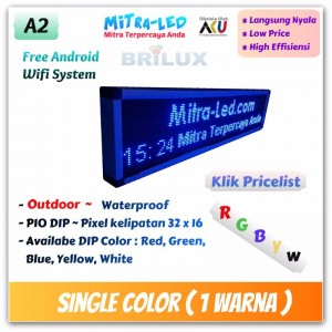 Daftar Harga Running Text P10 Outdoor Moving Sign Langsung Pakai Single Color / 1 Warna