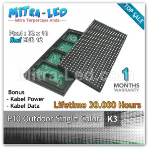 LED Panel Modul P10 Outdoor PUTIH | White - K03