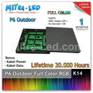 LED Panel Modul P6 Outdoor RGB - FULL COLOR  HUB 75 - K14