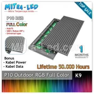 LED Panel Modul P10 SMD Outdoor RGB - FULL COLOR  HUB 75 - K09