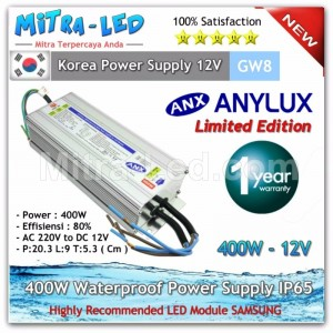 ANX Waterproof Power Supply 12V DC 33.3A 400W - High Quality