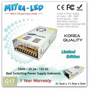 Anylux Switching Power Supply 12V DC 29.2A Korea | Garansi 1 Tahun - G17