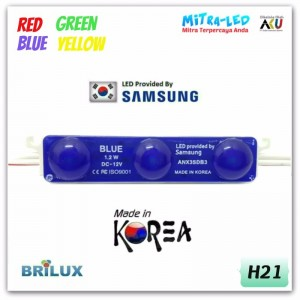 Samsung Color 2835 LED Module 3 Mata ANX( 1 Pack isi 50 Pcs )
