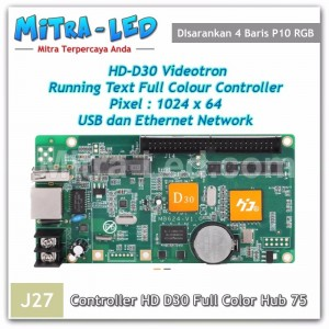 HD-D30 Videotron + Running Text Controller Card | 1024 x 64 Ethernet & USB - J27