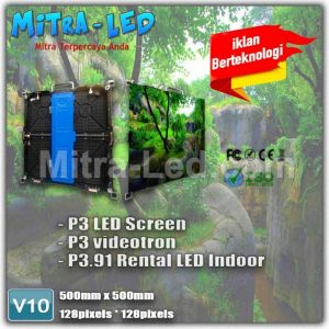 P3.91 Videotron Cabinet LED Screen Rental Indoor 500mm x 500mm - V10A