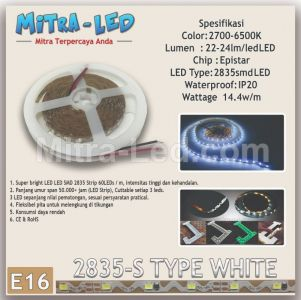 LED STRIP SMD 2835 12V S TYPE WHITE - BRILUX - E16