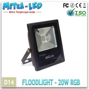 LED Epistar Floodlight Slim 20 Garansi 1 Tahun - BRILUX - D14