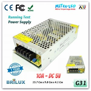 Brilux Switching Power Supply 5V DC 10A - High Quality