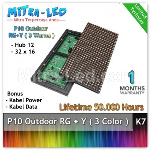LED Panel Modul P10 Outdoor RG + Y / RB + P - 3 WARNA - K8