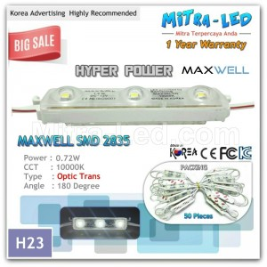 Hyper Power 2835 LED Module 3 Mata Maxwell ( 1 Pack isi 100 Pcs ) - H23