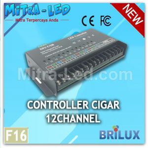 12 channel diy-usb matrix rgb led controller programmable F16