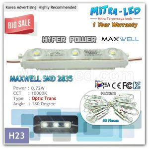 Hyper Power 2835 Optic Trans LED Module 3 Mata Maxwell ( 1 Pack isi 50 Pcs ) - H23