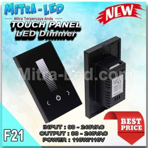 touching Panel Wall Single Color LED Controller Dimmer DC12-24V Black