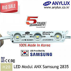 LED Modul Samsung ANX 3 Mata SMD 2835 | IP68 Waterproof ( Korea ) | Wide Angle
